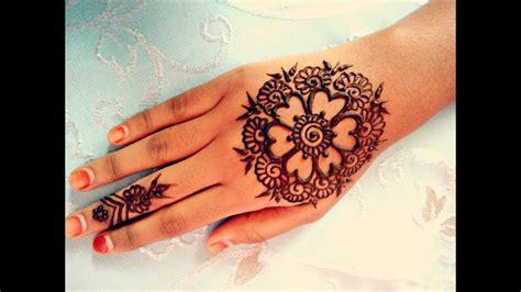 simple arabic henna easy stylish mehndi tattoo design