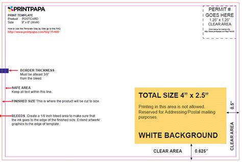 6x8 postcard template find a printing template printpapa