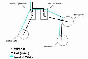 howto adding two exterior lights switch piggyback new With wiring a new light