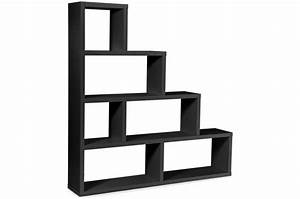 Etagere Escalier But : etag re escalier 6 compartiments stairway noir design sur sofactory ~ Teatrodelosmanantiales.com Idées de Décoration