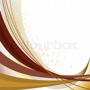 Abstract background with brown curved lines and spots of ...