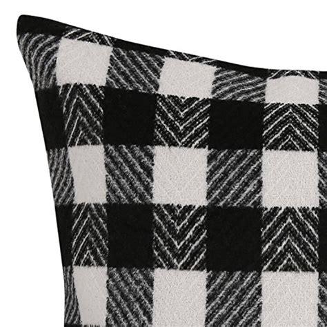 deconovo black  white retro checkered plaid throw