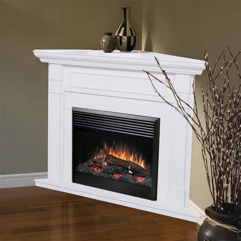 dimplex baxter corner electric fireplace white  hayneedle