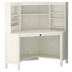 hemnes corner workstation white stain