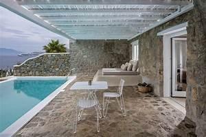 renovation originale dhotel mykonos bill coo design feria With mobilier de piscine design 14 maison traditionnelle grecque