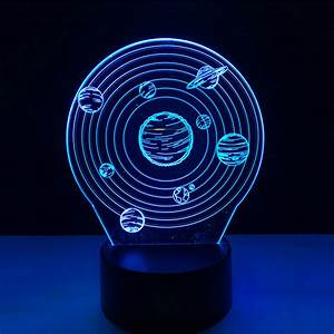 Solar System 3D LED Lamp