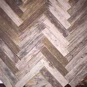 Hometalk Reclaimed Wood Herringbone Backsplash For