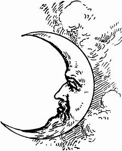 Crescent+Moon+Face+Drawing | Crescent Moon | Thinkin ...