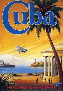 transpress nz: Pan Am poster - Visit Cuba