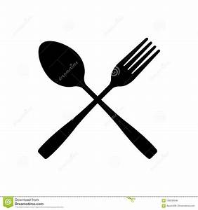 Fork And Spoon Crossed Vector Icon. Cutlery Isolated On ...