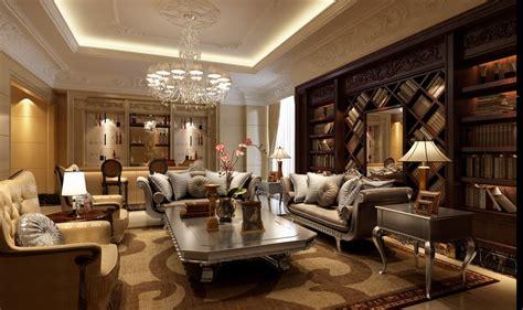 rich home interiors rich rennaisance mahogany library living china interior design ideas