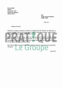 Edf Résiliation Contrat : lettre de r siliation edf ~ Medecine-chirurgie-esthetiques.com Avis de Voitures