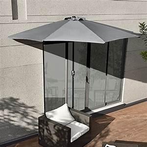 Grau sonnenschirme und weitere sonnenschutz gunstig for Französischer balkon mit sonnenschirm hochwertig