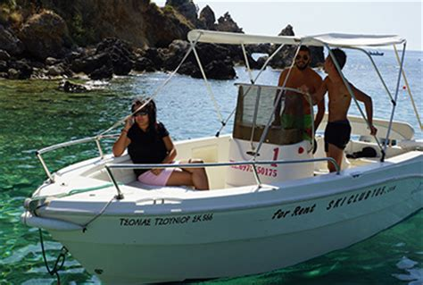 Small Boat For Rent by Water Sports Boat Rentals At Paleokastritsa Corfu