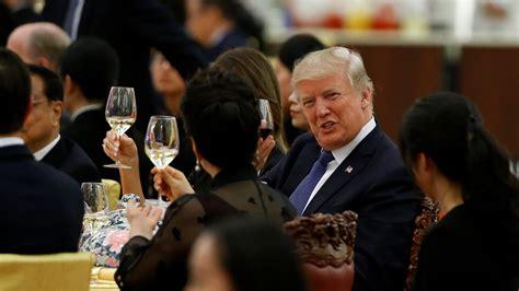 trump dinner chinese china state wine xi chicken jinping donald peter pao kung featured hall reuters thomas president beijing