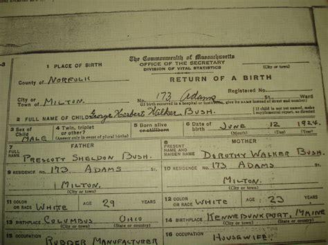 President George Herbert Walker Bush Official And