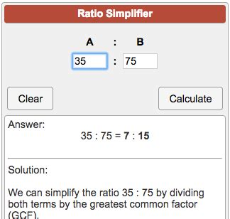 ratio simplifier