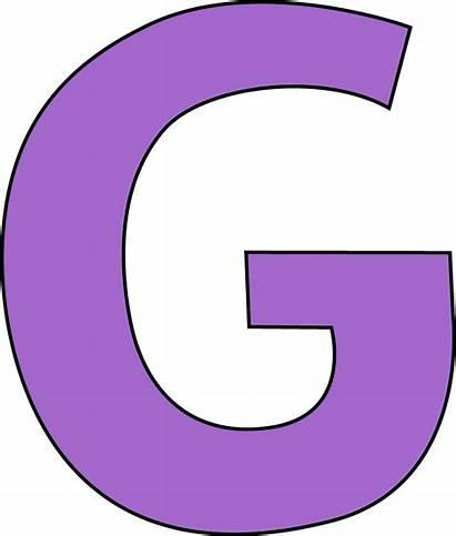Letter Clipart Purple Clip Capital Alphabet Cliparts