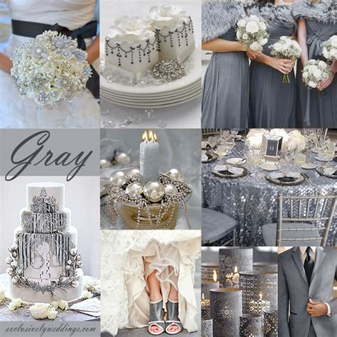 25th anniversary plate gray wedding color the new neutral exclusively weddings