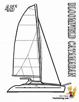 Coloring Catamaran Pages Boat Sailing Boats Ship Yescoloring Yacht Superb sketch template