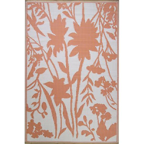 shop coral bellingrath outdoor rug 5x8 mad mats rugs