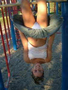 Nude Girl Upside Down Monkey Bars My Hotz Pic