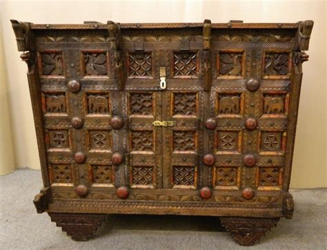 Indian And Cupboard by Indian Carved Cupboard C 1900 Ath2106 La63628