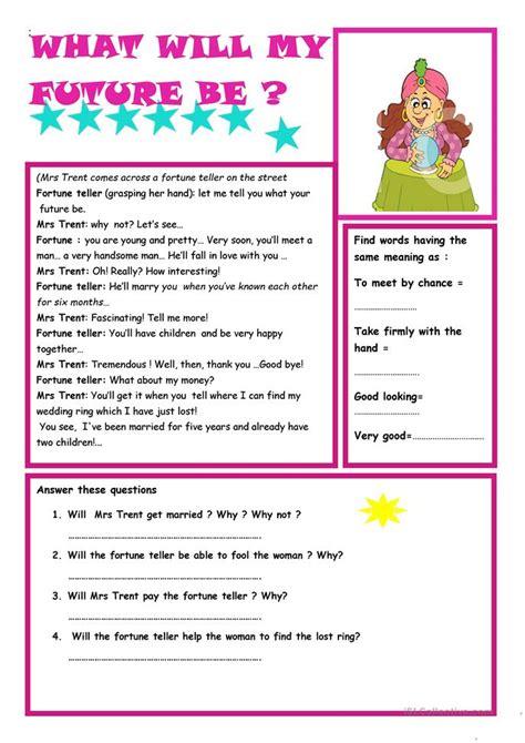 simple future tense worksheet free esl printable