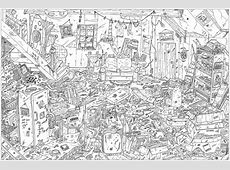 Complex attic Frédéric Brogard Coloring Pages for Adults