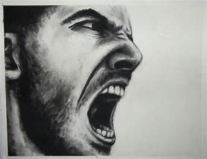 Portrait of Man Screaming by meghancolley on Etsy, $150.00 ...