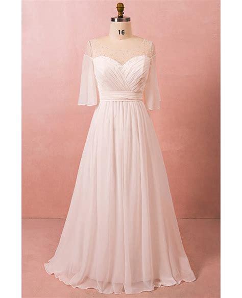 size bohemian chiffon beach wedding dress
