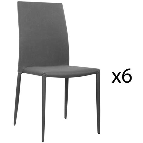 lot de 6 chaises grises lot de 6 chaises grises maison design wiblia com