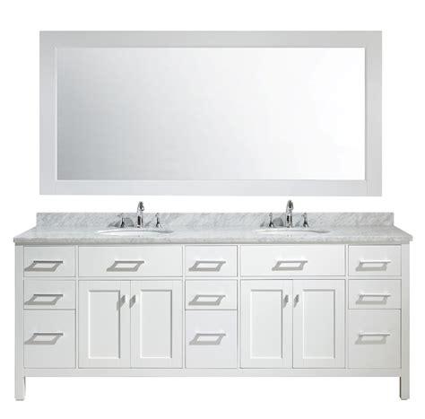 design element london  double sink vanity set  white