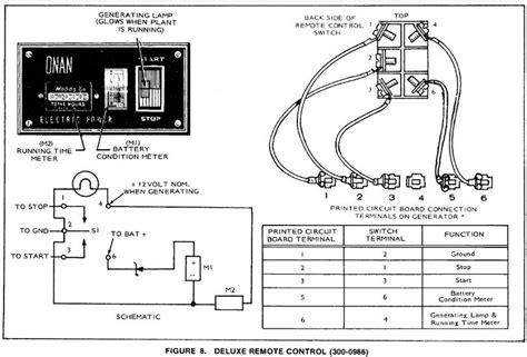 Onan Generator Wiring Schematic Diagram