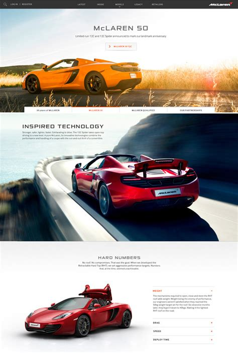 Automobile Website Design by 20 Automotive Website Designs For Your Inspiration Hongkiat