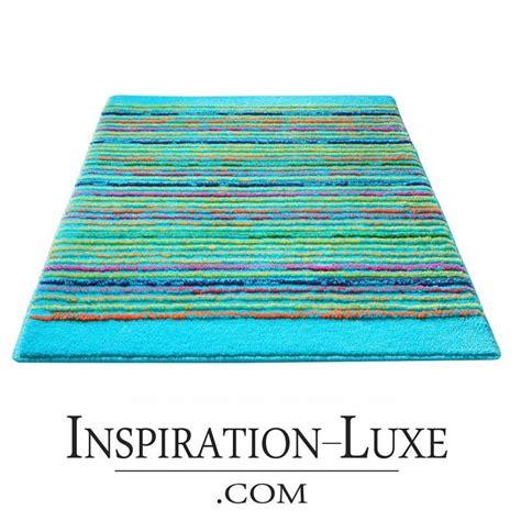tapis de salle de bain de luxe turquoise
