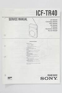 Sony Icf Am Radio Service Manual  Guide
