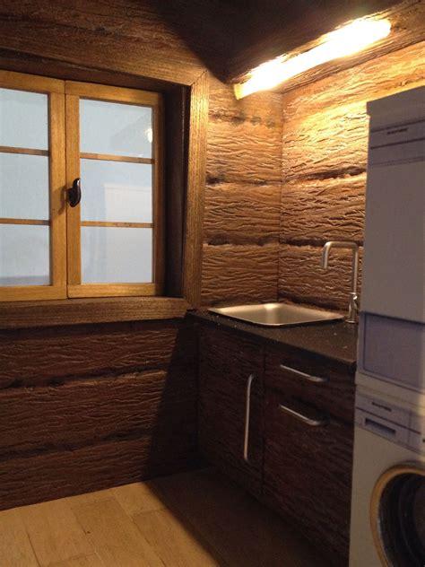 dollhouse log cabin storage laundry mud room dolls house interiors miniature houses diy