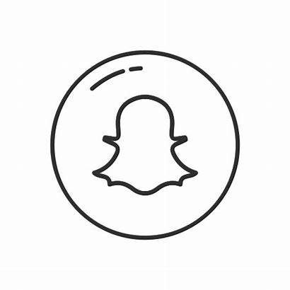 Snapchat Icon Ghost Circle App Mobile Icons