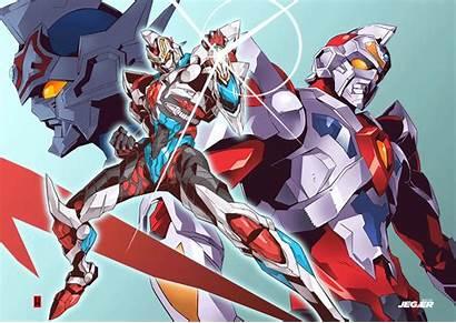 Gridman Robot Anime Artstation Mecha Sci Samurai
