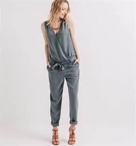 Combinaison Pantalon Femme Mariage : combinaison pantalon femme gris fonc promod ~ Carolinahurricanesstore.com Idées de Décoration