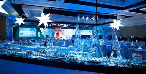seafood display cascade crystal ice