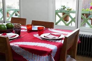 Nappe De Table : nappe africaine rectangle en bazin teint africouleur ~ Teatrodelosmanantiales.com Idées de Décoration