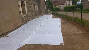 Cailloux Pour Cour : pose du geotextile et du graviers renovation d 39 une ~ Premium-room.com Idées de Décoration