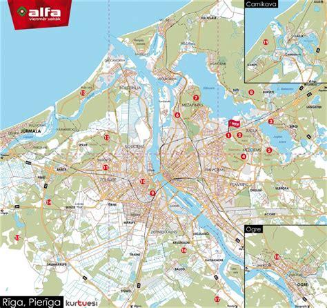 Rīgas distanču slēpošanas karte - Ziemas sports ...