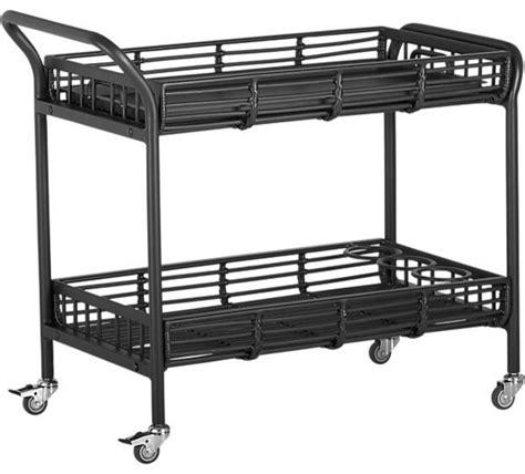 kruger black bar cart contemporary outdoor serving