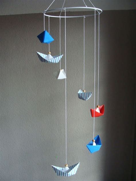 Traumfänger & Mobiles  Mobile Origami *boote* Maritim