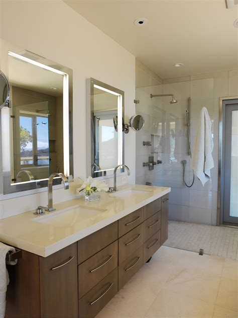 Cool Modern Bathroom Mirrors by Extraordinary Ikea Black Shelves With Hanging Light Bulb