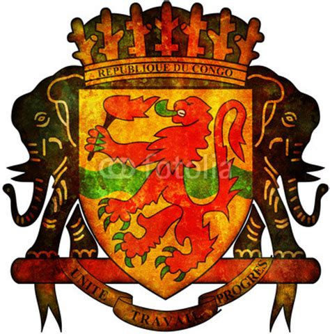 Republic Of Congo Coat Of Arms By Michal812, Royalty Free