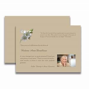 carte de deuil neutre pour remercier apres un decestout With chambre bébé design avec remerciement deces fleurs